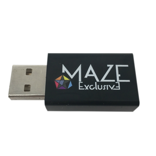 64GB metal usb drive & usb blocker set